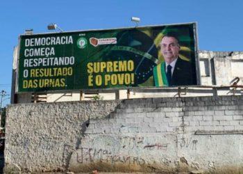 Outdoor Jair Bolsonaro em Campos-RJ