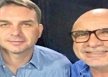 Flávio Bolsonaro E Fabrício Queiroz (Reprodução: Instagram)