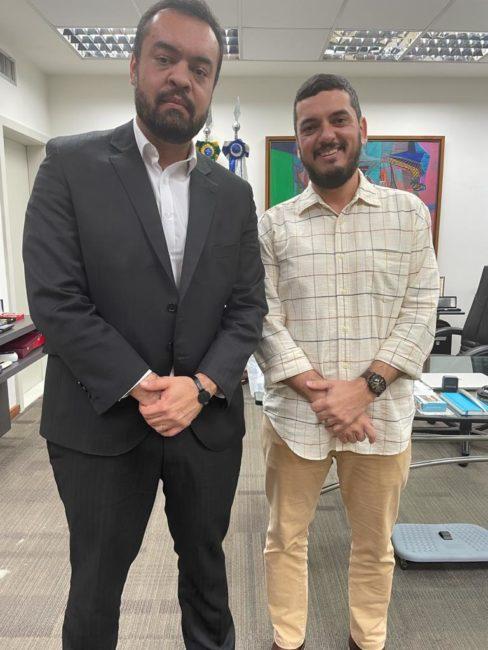 Deputado Rodrigo Bacellar com o governador Claudio Castro