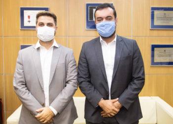 Prefeito Wladimir Garotinho e o governador Claudio Castro
