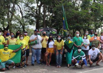 manifestação bolsonarista em Quissamã-RJ